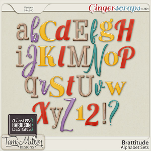 Brattitude Alpha Sets by Aimee Harrison and Tami Miller
