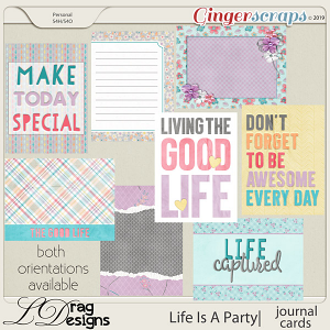 Life Is A Party: Journal Cards by LDragDesigns