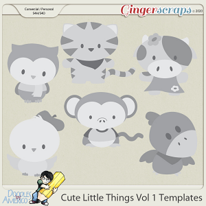 Doodles By Americo: Cute Little Things Vol 1 Templates