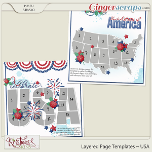 Layered Page Templates ~ USA