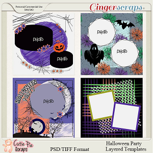 Halloween Party -Layouts Templates -12x12