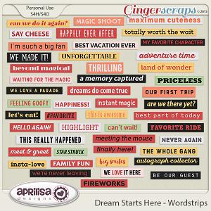 Dream Starts Here - Wordstrips