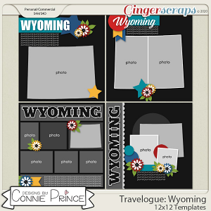 Travelogue Wyoming - 12x12 Temps (CU Ok) by Connie Prince