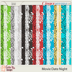 Movie Date Night Pattern Papers