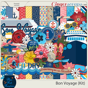 Bon Voyage Digital Scrapbook Kit by Miss Fish