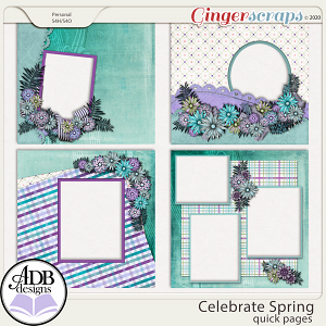Celebrate Spring Album Quick Pages by ADB Designs