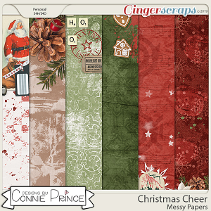 Christmas Cheer - Messy Papers by Connie Prince