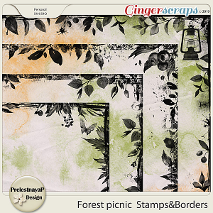 Forest picnic Stamps&Borders
