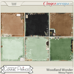 Woodland Wonder - Messy Papers by Connie Prince