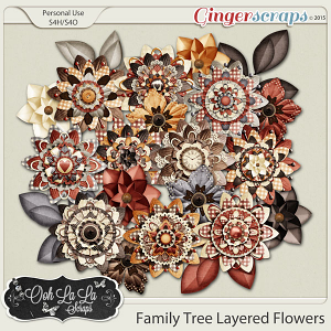 Family Tree Layered Flowers