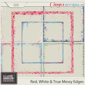 Red, White & True Messy Edges by Aimee Harrison