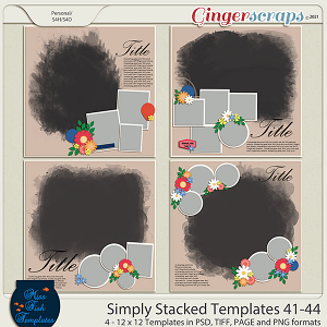 Simply Stacked 41-44 Templates by Miss Fish