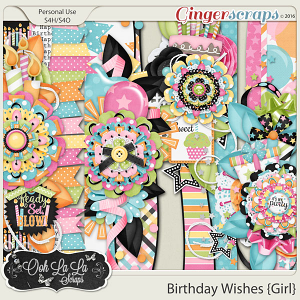 Birthday Wishes Girl Page Borders
