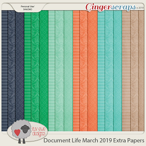 Document Life March 2019 Extras by Luv Ewe Designs