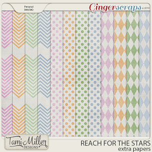 Reach for the Stars Extra Papers by Tami Miller Designs