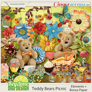 Teddy Bears Picnic Elements by Key Lime Digi Design