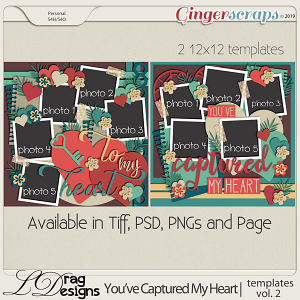 You've Captured My Heart: Templates Vol. 2 by LDragDesigns