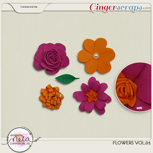Flowers VOL 01 - by Neia Scraps - CU