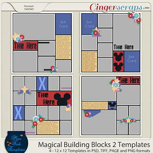 Magical Building Blocks 2 Templates by Miss Fish