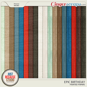 Epic Birthday Painted Papers by JB Studio