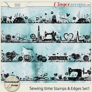 Sewing time Stamps & Edges Set1