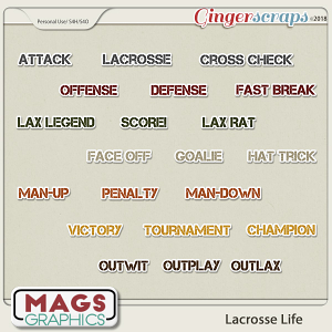 Lacrosse Life TAGS by MagsGraphics