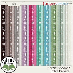 Arctic Gnomes Extra Papers by ADB Designs