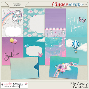 Fly Away - Journal Cards - by Neia Scraps