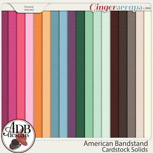 American Bandstand Cardstock Solids by ADB Designs