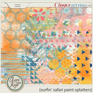Surfin' Safari Paint Splatters by Chere Kaye Designs