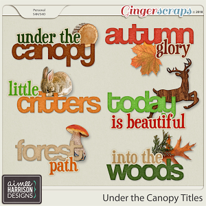 Under the Canopy Titles by Aimee Harrison