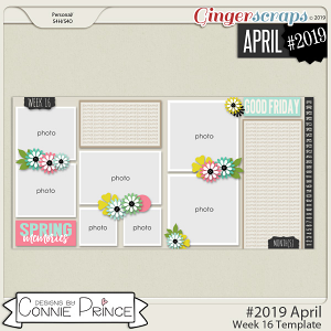 #2019 April - Week 16 Template Pack (CU Ok) by Connie Prince