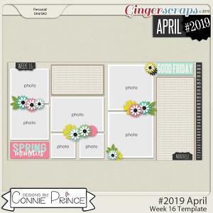 #2019 April - Week 16 Template Pack (CU Ok) by Connie Prince