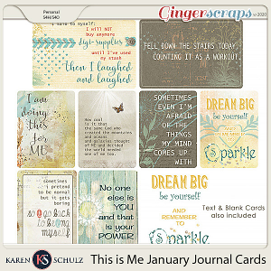 This is Me January Pocket Cards by Karen Schulz