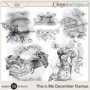 This is Me December Stamps by Karen Schulz