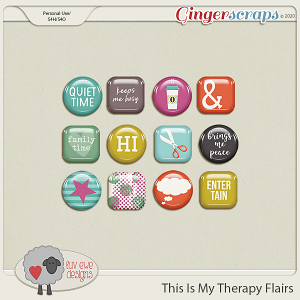 This Is My Therapy Flairs by Luv Ewe Designs