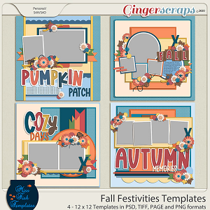 Fall Festivities Templates by Miss Fish