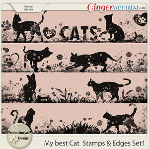My best Cat Stamps & Edges Set1