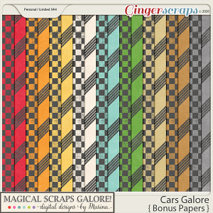Cars Galore (bonus papers)