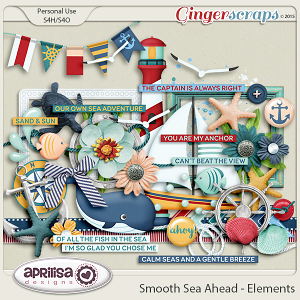 Smooth Sea Ahead - Elements  by Aprilisa Designs