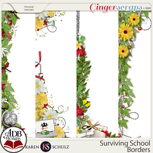 Surviving School Borders by Karen Schulz and ADB Designs