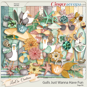 Gulls Just Wanna Have Fun Page Kit