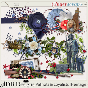 Patriots And Loyalists Accent Clusters by ADB Designs