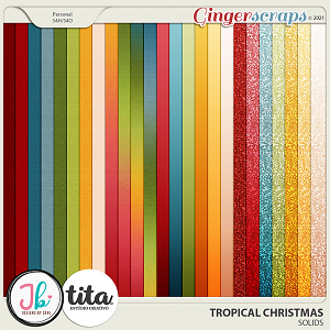 Tropical Christmas Solids by JB Studio and Tita