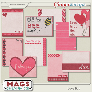 Love Bug JOURNAL CARDS by MagsGraphics
