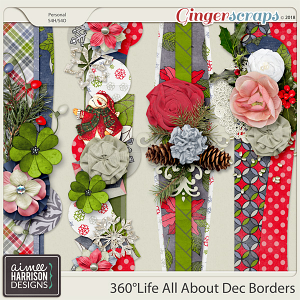 360°Life All About December Borders by Aimee Harrison