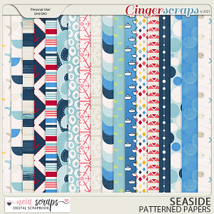 Seaside - Papers - by Neia Scraps