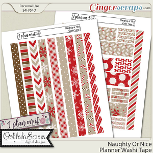 Naughty Or Nice Planner Stickers Washi Pack