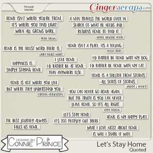Let's Stay Home - Quoted by Connie Prince