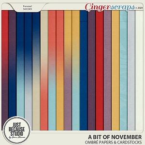 A Bit Of November Ombré Papers & Cardstocks by JB Studio